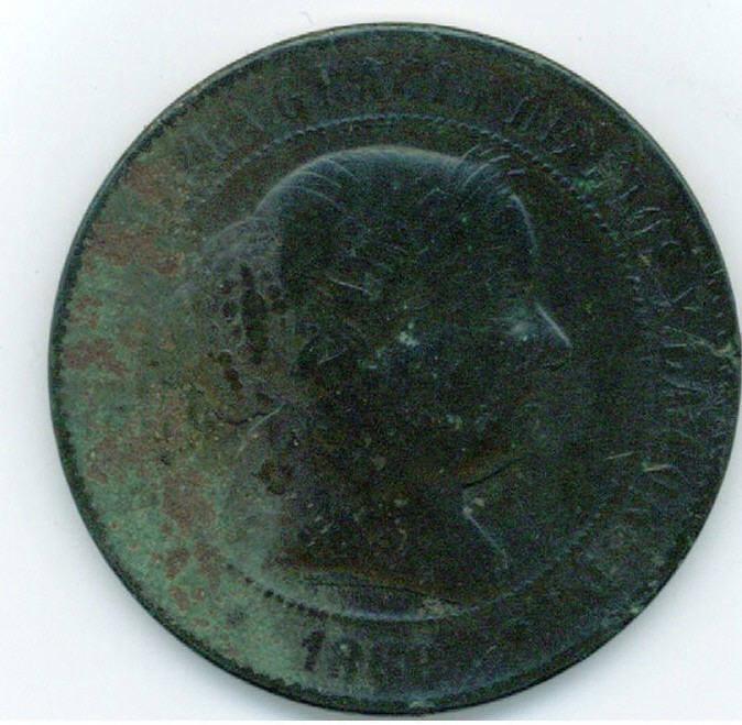 5Cts de Escudo de Isabel II (Barcelona, 1868 d.C) Fotogr12