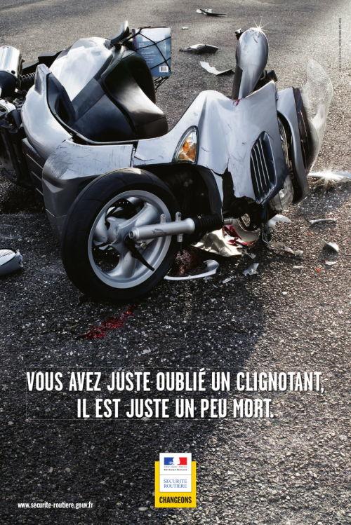 Sécurité routière : Une pub contre l'oubli des clignotants Securi10