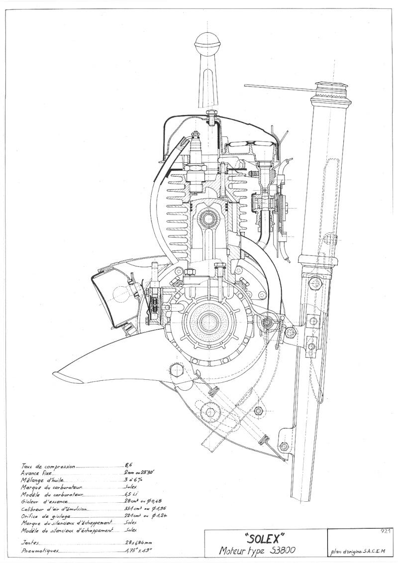 Plans, éclatés, guide de réglage et pubs du SOLEX 3800 92110