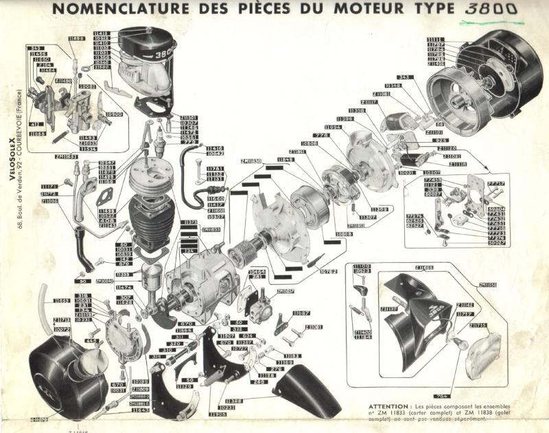 Plans, éclatés, guide de réglage et pubs du SOLEX 3800 Ref75210