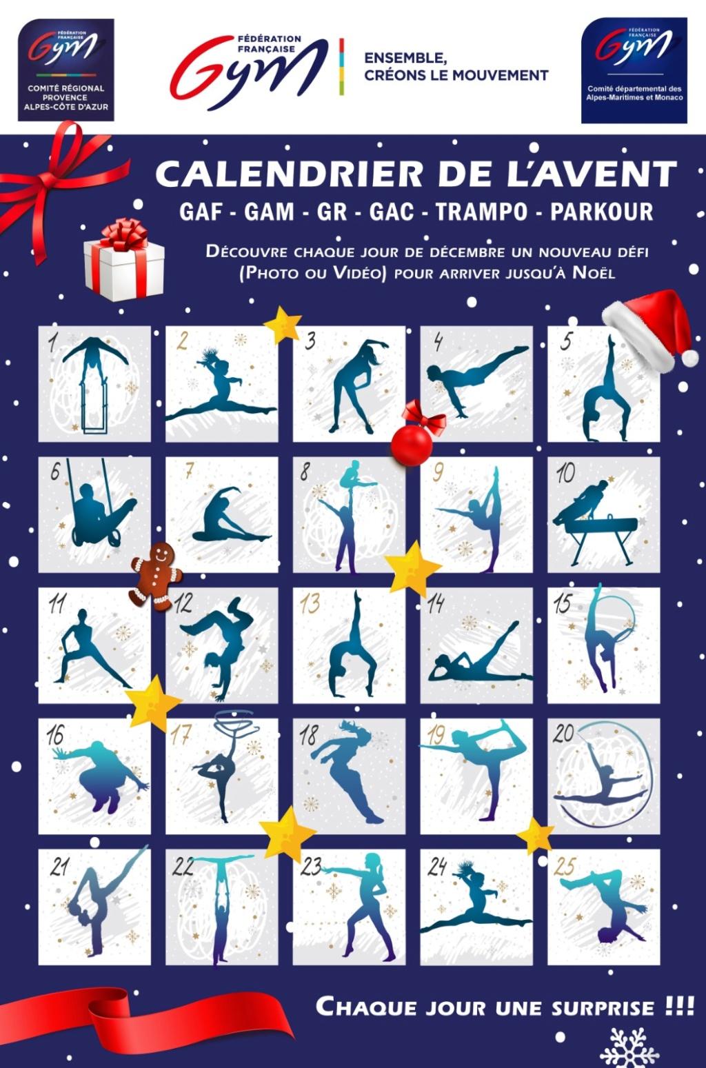 Le calendrier de l'Avent de la gymnastique, un jeu pour tous proposé par les départements 06 et 98 Affich12