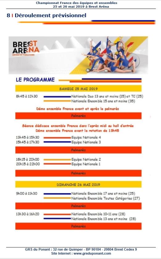 Championnat de France ensembles NAT à Brest 2019 - Page 2 Progra10