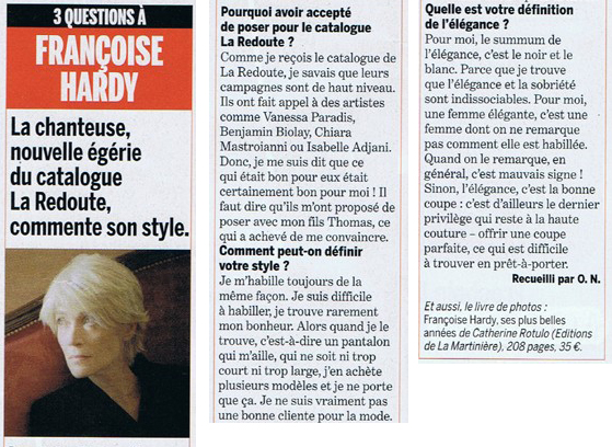 Françoise Hardy may create a clothing line for La Redoute ! La_red10