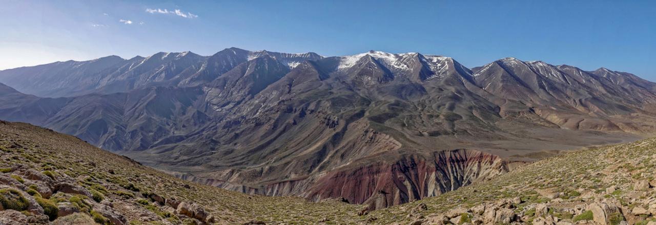 Chaîne du M'Goun (Atlas marocain) point culminant 4 071 m 3è sommet 10704110