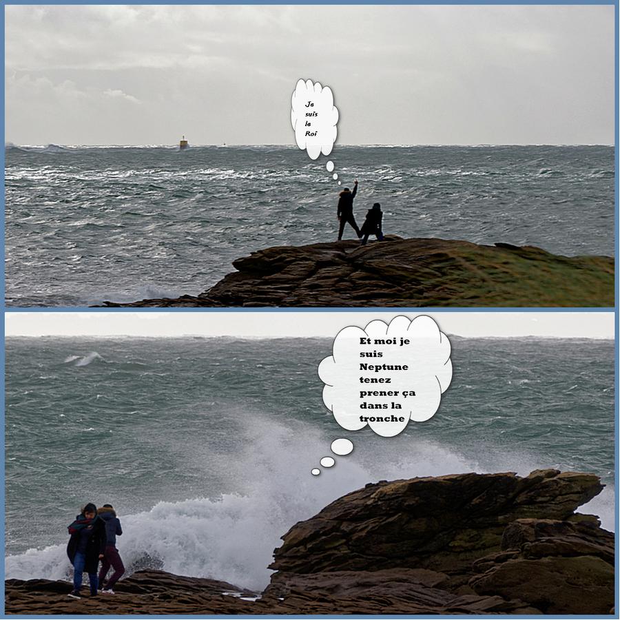 Le touriste qui voulut se prende pour le roi de la mer! Collag41