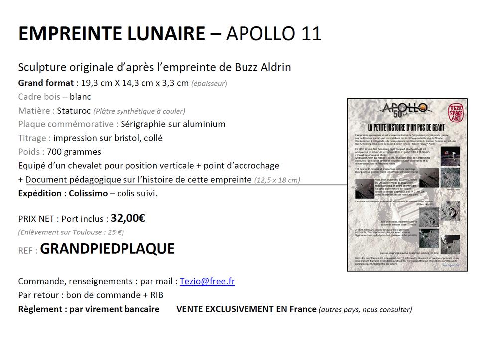 Apollo 11 - Objets anniversaire 1texte10