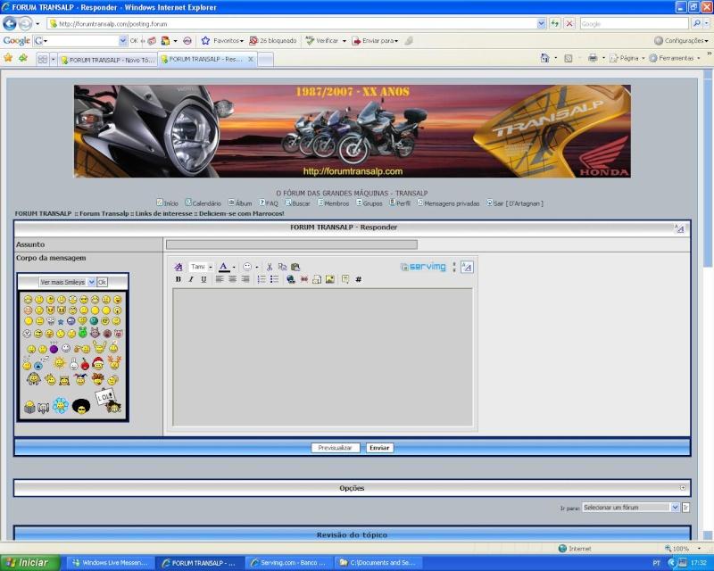 Como colocar fotos - criar tópicos - responder a mensagens Pf_0910