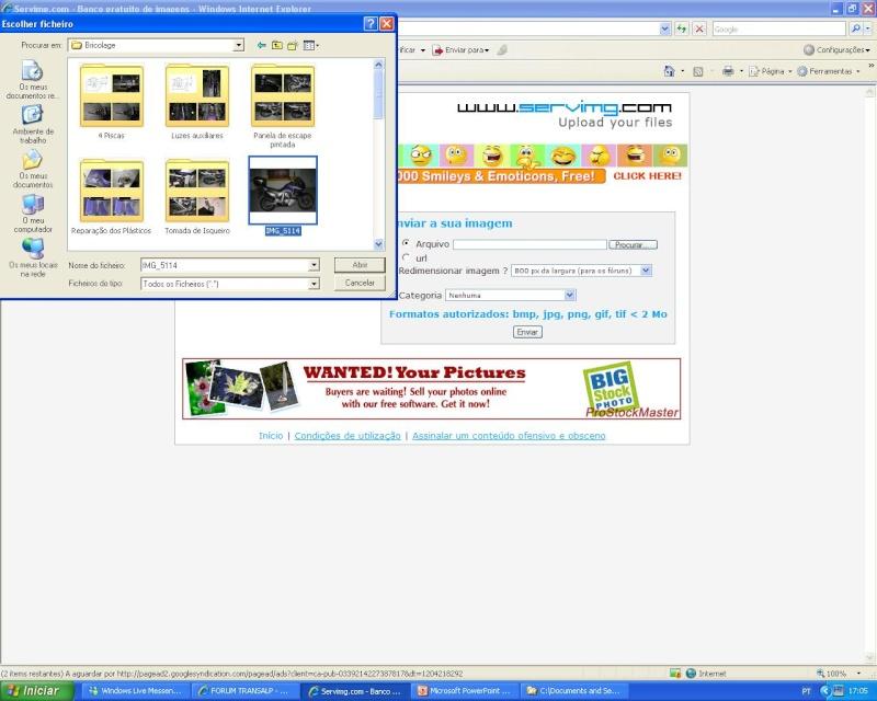 Como colocar fotos - criar tópicos - responder a mensagens S_0510