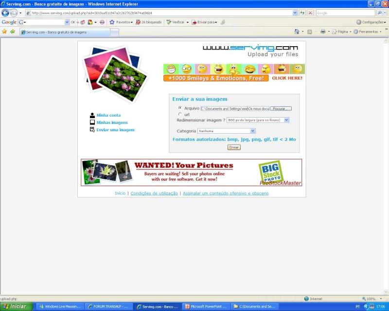 Como colocar fotos - criar tópicos - responder a mensagens S_0610