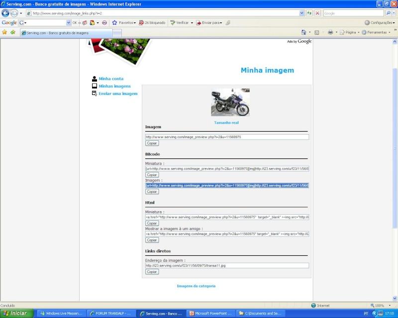 Como colocar fotos - criar tópicos - responder a mensagens S_0710