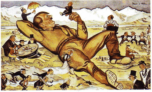 CARICATURAS Y CARTOON DE LA GUERRA Hitler10