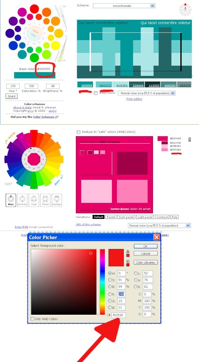 Как выбрать цвета для скрапа 8810