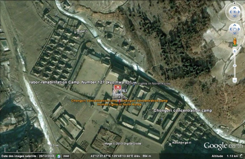 Des goulags Nord Coréens sur Maps Maker Chongo10