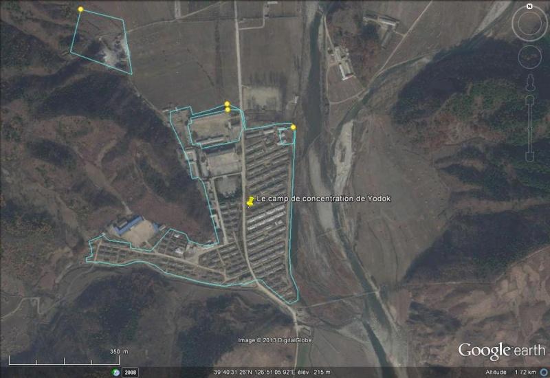 Des goulags Nord Coréens sur Maps Maker Yodok10