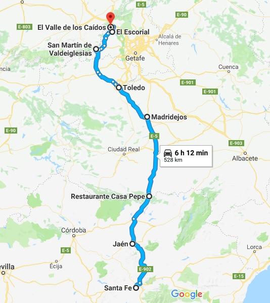 RUTA FIN DE SEMANA 7 Y 8 DE JULIO 2018 EL ESCORIAL, VALLE DE LOS CAÍDOS, CONSUEGRAS Y LAGUNAS DE DAIMIEL Ruta_d16