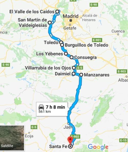 RUTA FIN DE SEMANA 7 Y 8 DE JULIO 2018 EL ESCORIAL, VALLE DE LOS CAÍDOS, CONSUEGRAS Y LAGUNAS DE DAIMIEL Ruta_d17