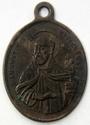 Médaille Vierge et St Augustin - début à milieu XIXème Madonn14