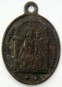 Médaille Vierge et St Augustin - début à milieu XIXème Madonn15