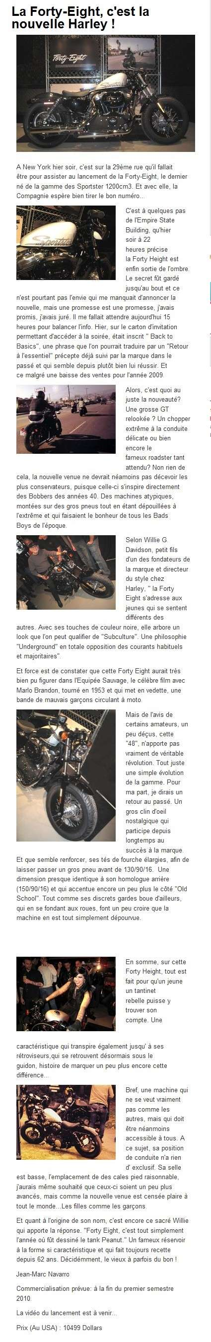 Nouveau Sportster Forty-Eight 1200cm3 A10