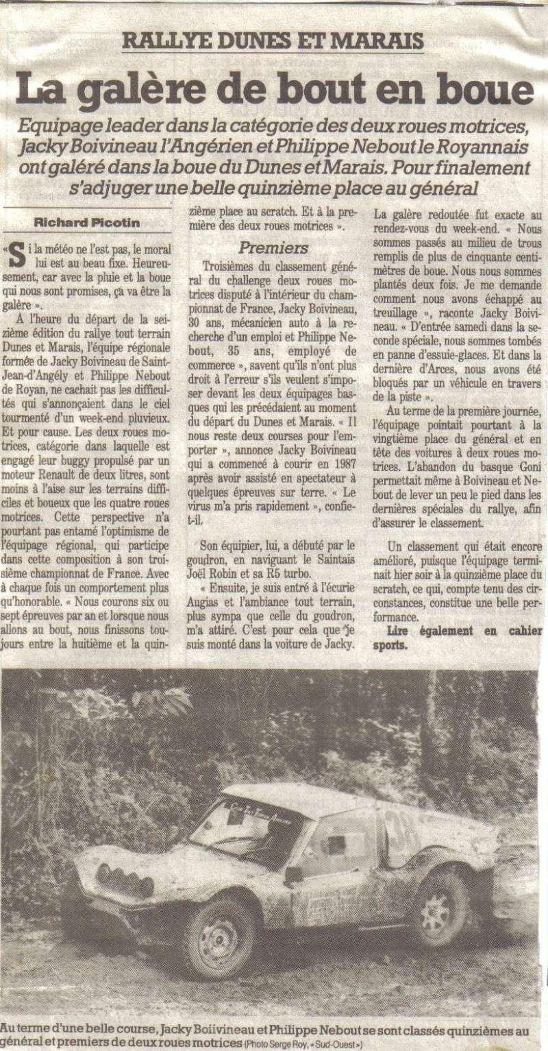 Article du Sud Ouest Jacky Boivineau 1993 Lastsc10