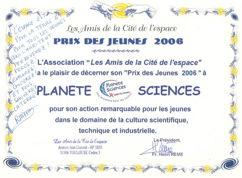 Récompense estudiantine Prix2010