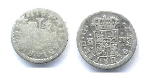 1/2 Real de Carlos III (Madrid, 1764 d.C) Car_310