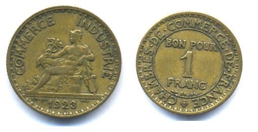 commerce - Francia, 1 franco, Chambres de Commerce, 1923 (necesidad) Fi10