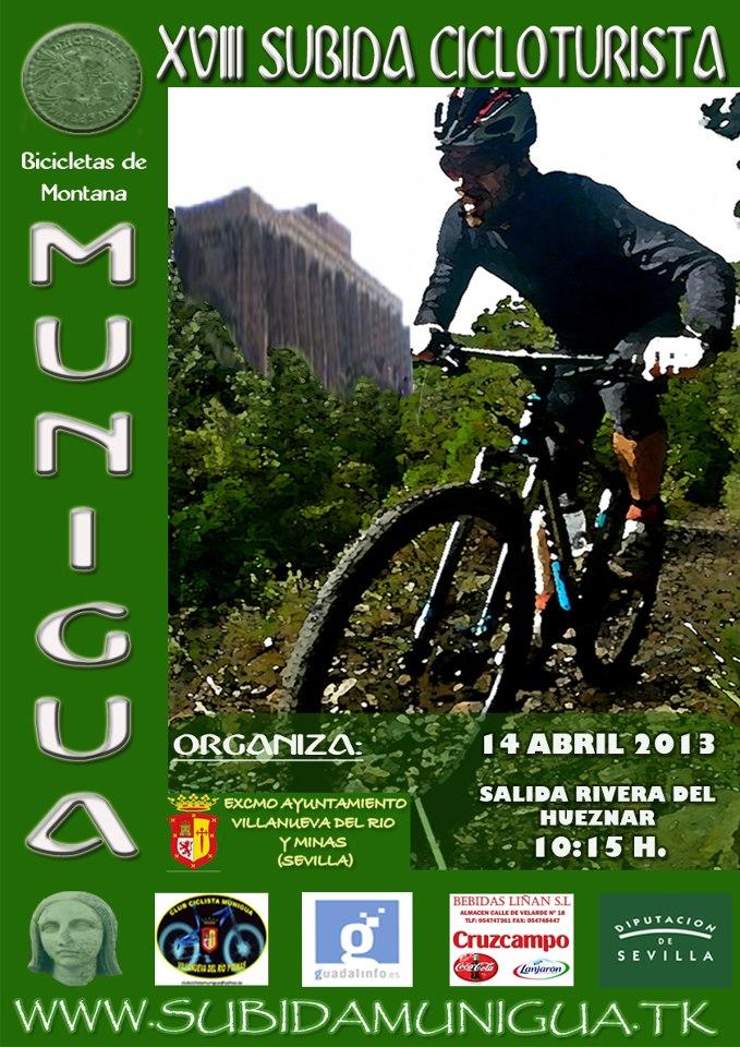 XVIII SUBIDA CICLOTURISTA SANTUARIO ROMANO MUNIGUA 14-04-13 Cartel10