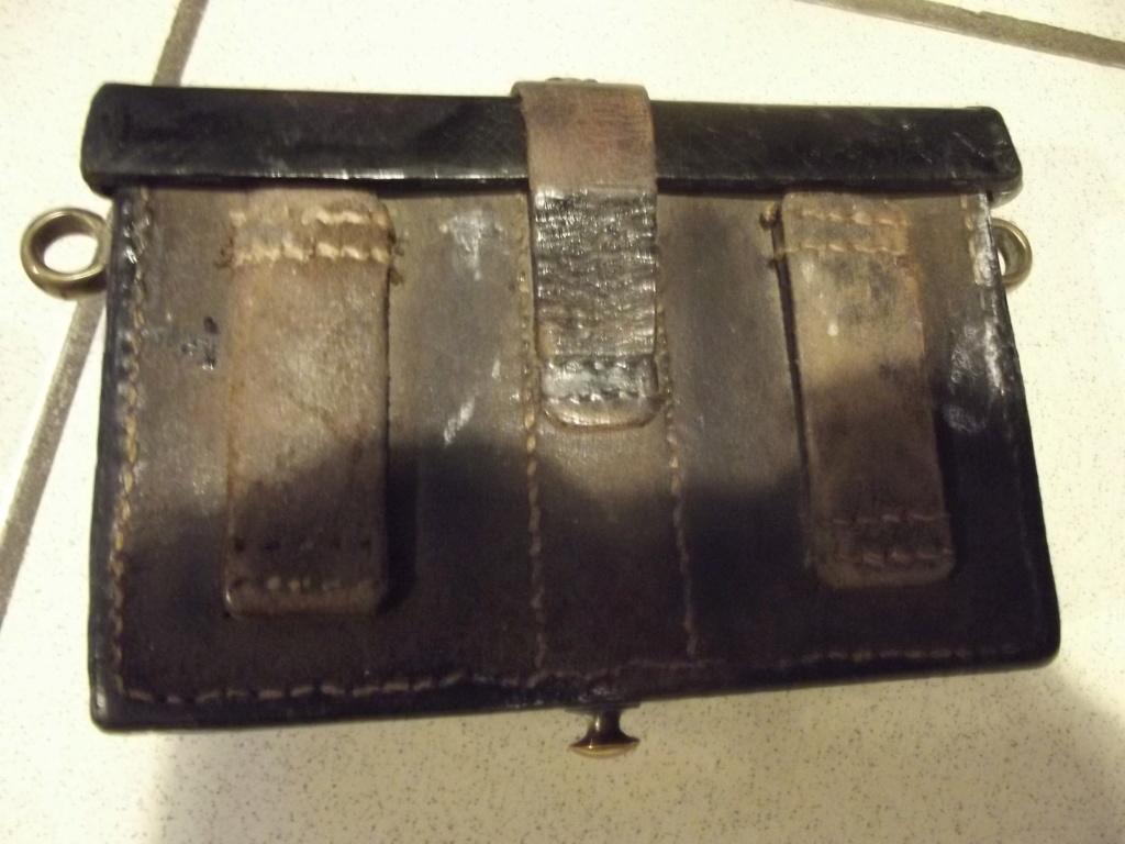 jugulaire Streaudin cuir et cuivre et cartouchiere noire Dscf2614