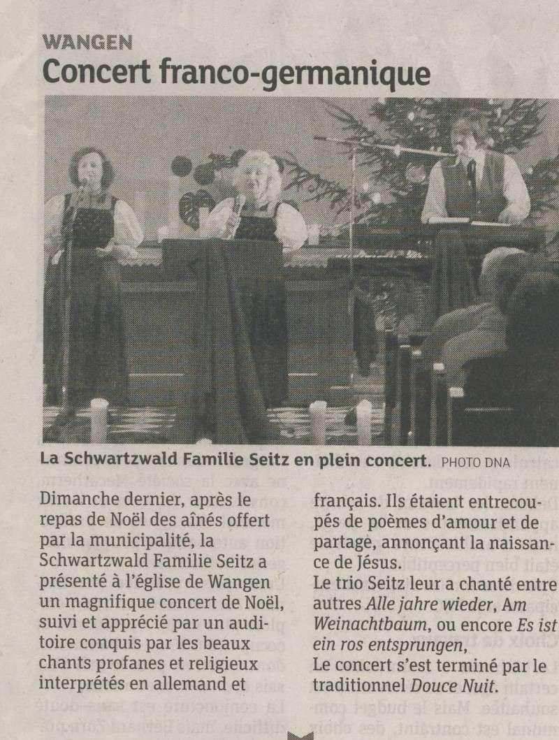 Schwarzwaldfamilie SEITZ en concert dimanche 16 décembre 2012 à l'église de Wangen Image119