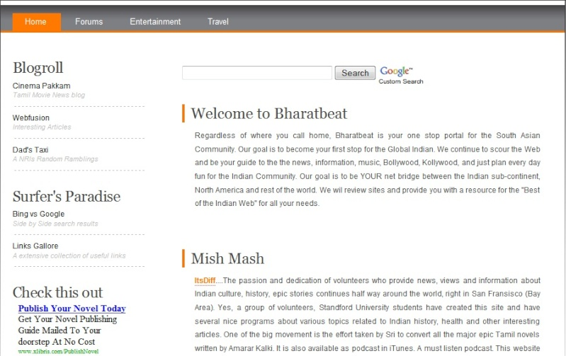 New Face for our parent site. Newpag10