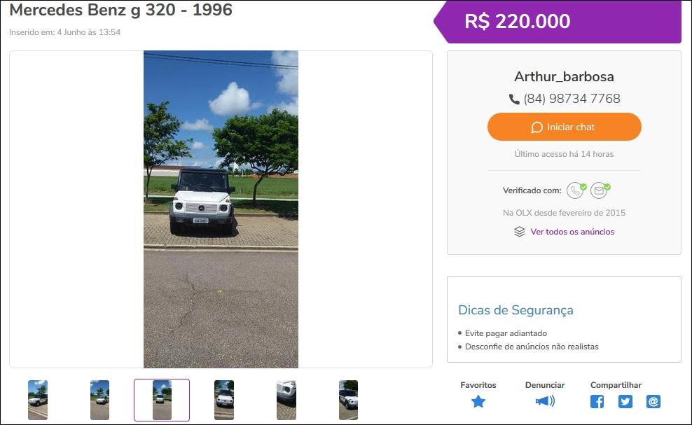 G320 1996 - R$ 220.000,00 Tela112