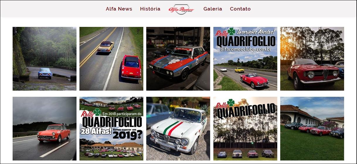 Alfa Romeo Clube BR participará do nosso próximo encontro no New Dog! Tela22