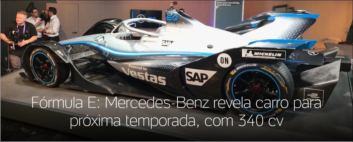 Fórmula E: Mercedes-Benz revela carro para próxima temporada, com 340 cv Tela29