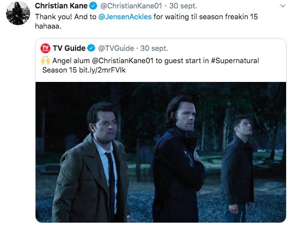 Christian Kane rejoint Supernatural Captu802