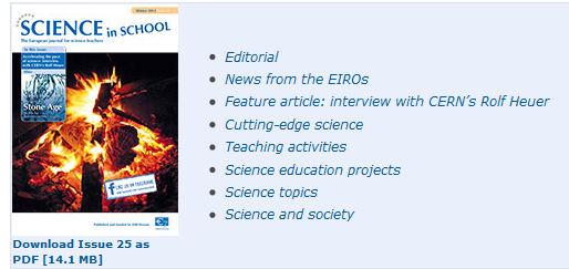 Parution du dernier numéro de Science in School Eiro_s11