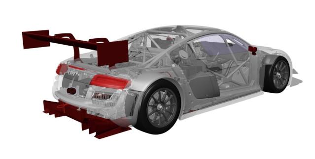 support aillerons Scaleauto en caoutchouc  Audir810