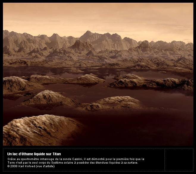 Le film de la descente de Huygens sur Titan Titan210