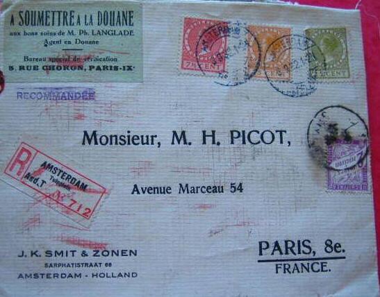 Taxe postale douanière Taxdou10