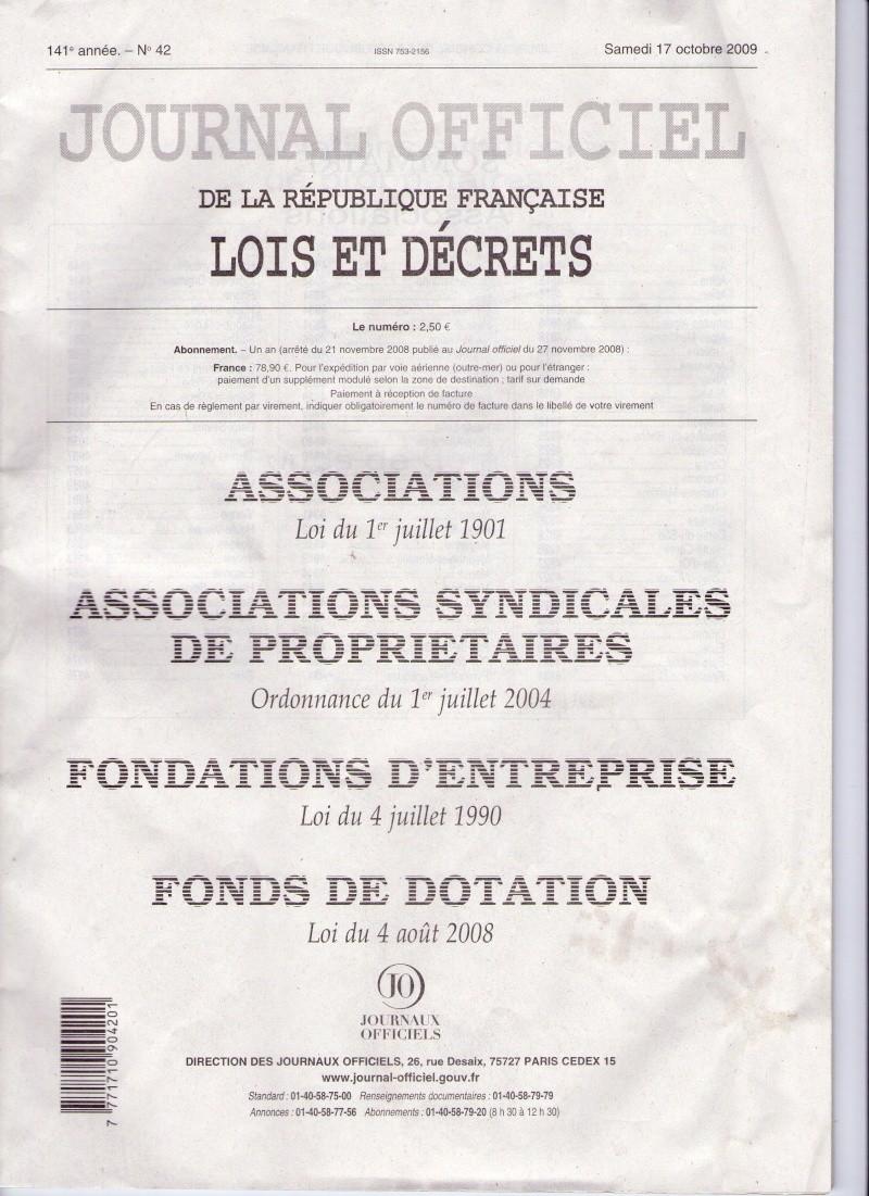 L'association est parue au Journal Officiel Jo_na110