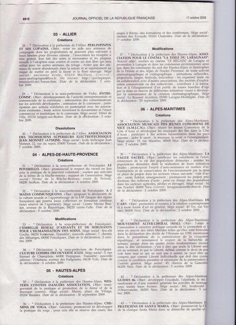 L'association est parue au Journal Officiel Jo_na210