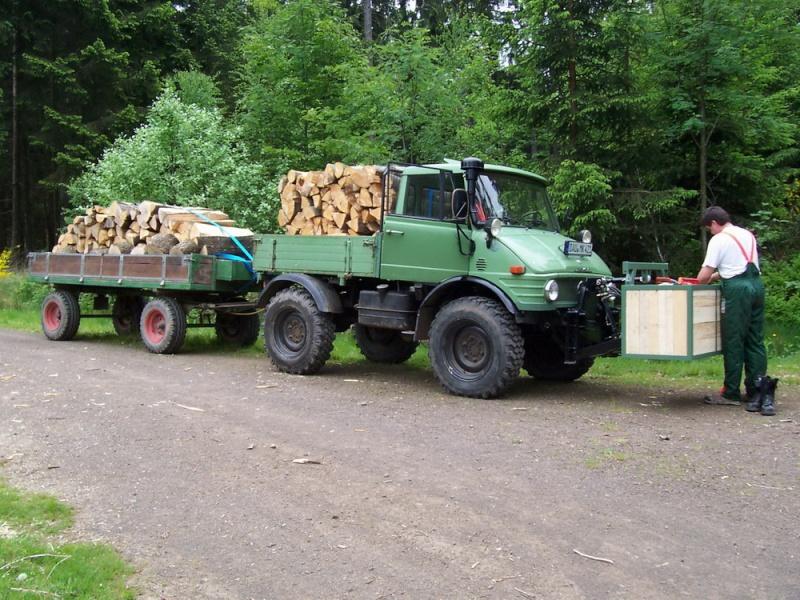 unimog mb-trac wf-trac pour utilisation forestière dans le monde U421_h10