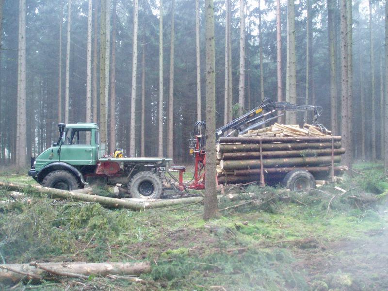 unimog mb-trac wf-trac pour utilisation forestière dans le monde Zug_ko10