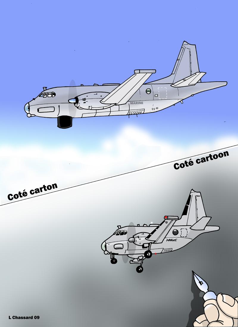 Coté carton coté cartoon : Le Breguet Atlantic Avion_10