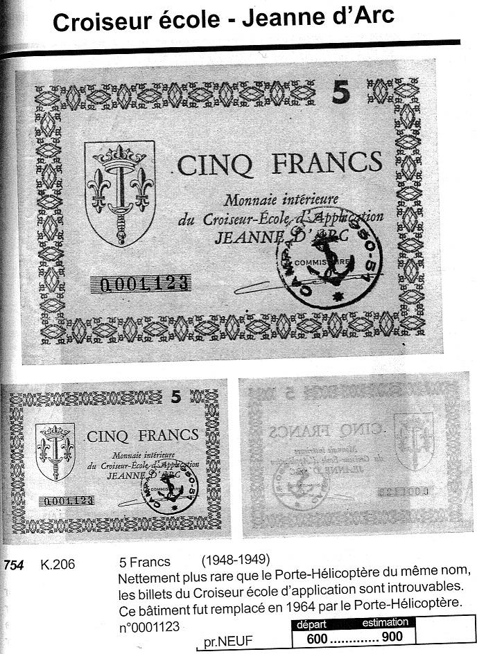 [ Blog visiteurs ] Billets de 10 francs sur la Jeanne d'Arc Croise10