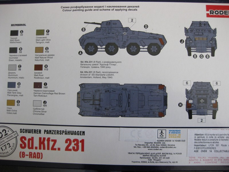 Sd.Kfz.231 (8-rad) [Roden; 1/72] Photo_10