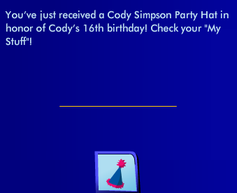 squee! cody simpson party hat <3 Ss64210