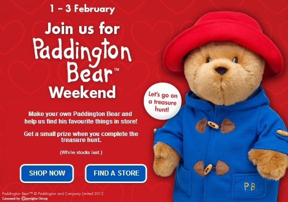 Paddington Bear Weekend at UK Stores, Feb 1-3  Ss70510
