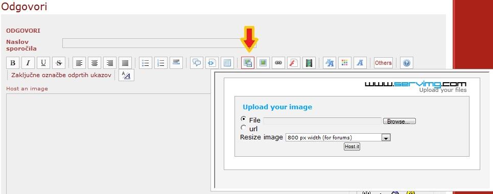 Priročnik za dodajanje slik na forum Gumbek10