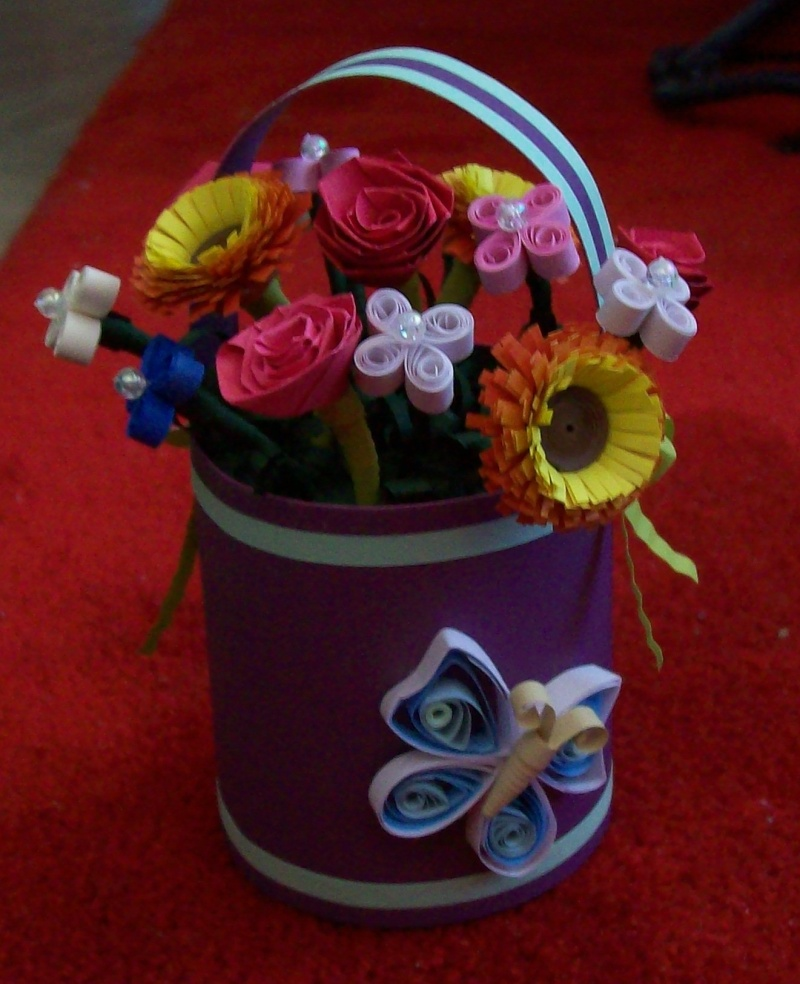 A bucket of flowers 3D 02611